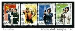China 2007-21 Chinese Army Stamps Doctor Medicine Ambulance Airplane Plane Warship Martial Tank - 1949 - ... People's Republic