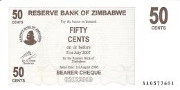 ZIMBABWE   50 Cents   1/8/2006   P. 36   UNC - Zimbabwe
