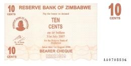 ZIMBABWE   10 Cents   1/8/2006   P. 35   UNC - Zimbabwe