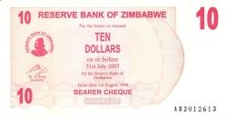 ZIMBABWE   10 Dollars   1/8/2006   P. 39   UNC - Zimbabwe