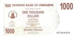 ZIMBABWE   1000 Dollars   1/8/2006   P. 44   UNC - Zimbabwe