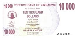 ZIMBABWE   10,000 Dollars   1/8/2006   P. 46b   UNC - Zimbabwe