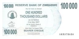 ZIMBABWE   100,000 Dolars   1/8/2006   P. 48b   UNC - Zimbabwe