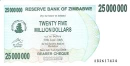ZIMBABWE   25 Million Dollars     2/4/2008   P. 56   UNC - Zimbabwe