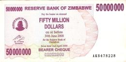 ZIMBABWE   50 Million Dollars     2/4/2008   P. 57 - Zimbabwe