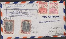 O) 1940 CONGO, NATURAL PARK- WATERFALL- RIVER SUZA,  PREMIERE LIAISON, COVER XF - Belgian Congo