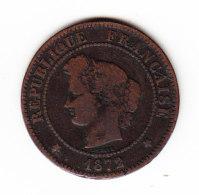 FRANCE KM 821.2, 5ct, 1872K. (B451) - France