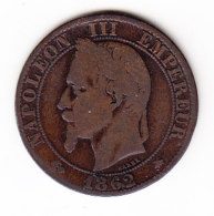 FRANCE KM 797.1, 5ct, 1862A. (B456) - France