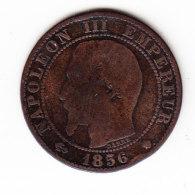 FRANCE KM 771.6, 5ct, 1856MA. (B457) - France