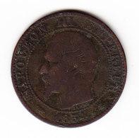 FRANCE KM 777.3, 5ct, 1854BB. (B458) - France