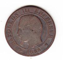FRANCE KM 777.7, 5ct, 1855W. (B459) - France