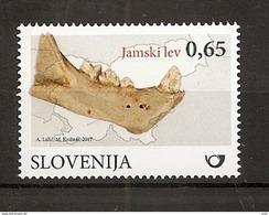 SLOVENIA,SLOWENIEN 2017,FOSSIL MAMMALS IN SLOVENIA,CAVE LION,MNH - Fossiles