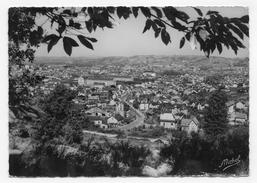 (RECTO / VERSO) BRIVE LA GAILLARDE EN 1955 - N° 325 - VUE GENERALE - BEAU CACHET - CPSM GF VOYAGEE - Brive La Gaillarde