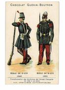 CHROMO IMAGE CHOCOLAT GUERIN-BOUTRON ILLUSTRATION UNIFORMES ARMEE FRANCAISE ECOLE DE ST CYR - Guérin-Boutron