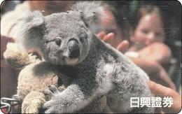 Japan Phonecard Koala Bär Australia Rel. - Schede Telefoniche