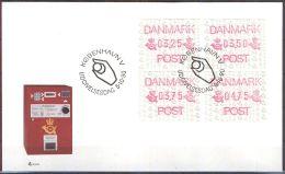 DÄNEMARK 1990 AUTOMATENMARKEN ATM MI-NR. 1 Satz 1 FDC - Vignette Di Affrancatura (ATM/Frama)