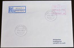 ISLAND 1983 MI-NR. Automatenmarken ATM 1 Einschreiben FDC - Vignettes D'affranchissement (Frama)