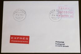 ISLAND 1983 MI-NR. Automatenmarken ATM 1 Express FDC - Vignettes D'affranchissement (Frama)