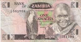 ZAMBIE   1 Kwacha   ND (1980-88)   Sign.5   P. 23a - Zambie