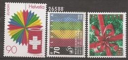 1998 - YT 1582-1591-1592 ** - VC: 4.85 Eur. - Suisse