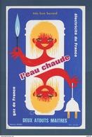 BUVARD  --  GAZ - L'Eau Chaude .Deux Atout Maitre - Vu Par Lefor-Openo - Electricité & Gaz