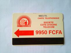 Ivory Coast Phonecard 9950 Francs Autelca