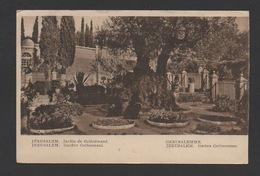 DF / ISRAEL / JÉRUSALEM / JARDIN DE GETHSÉMANÉ ET MOINES / + AU DOS TIMBRE DE PALESTINE / CIRCULÉE EN 1930 - Israël