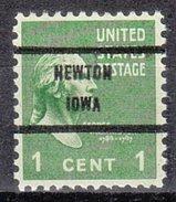 USA Precancel Vorausentwertung Preos Bureau Iowa, Newton 804-71