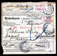 A4609) DR Paketkarte Von Pößneck 9.3.37 Nach Zagreb Nachporto - Briefe U. Dokumente