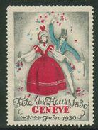 Suisse // Schweiz // Switzerland // Erinnophilie // Vignette , Genève, Fête Des Fleurs 1930 - Erinnophilie