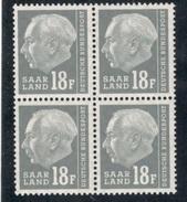 Saar1957:Michel416 Mnh** Block Of 4 - 1957-59 Federation