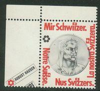 Suisse // Schweiz // Switzerland // Erinnophilie // Vignette , Notre Suisse (4 Langues) - Erinnophilie