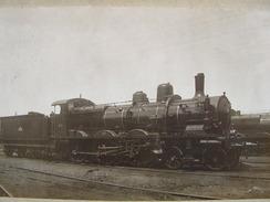 Photo Ancienne Train Locomotive Schneider 230-280 Tender - Trains