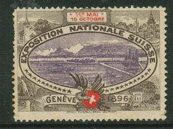 Suisse // Schweiz // Switzerland // Erinnophilie // Vignette , Genève, Exposition Nationale 1896 - Erinnophilie