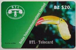 Belize Phonecard $20 Toucan - Belize