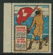 Suisse // Schweiz // Switzerland // Erinnophilie // Vignette , Genève, La Fête De Juin, Juillet 1914 - Erinnophilie
