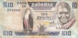 ZAMBIE   10 Kwacha   ND (1980-88)   Sign.6   P. 26d - Zambia