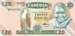 ZAMBIE   20 Kwacha   ND (1980-88)   Sign.7   P. 27e   UNC - Zambia