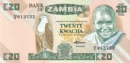 ZAMBIE   20 Kwacha   ND (1980-88)   Sign.7   P. 27e   UNC - Zambie