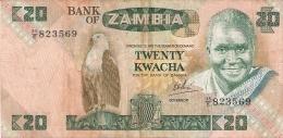 ZAMBIE   20 Kwacha   ND (1980-88)   Sign.6   P. 27d - Zambie