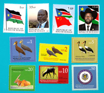 SOUTH SUDAN !Special Offer!! Full Sets 1st (2 Stamps) & 2nd Issue (6 Stamps) And Unissued Set = Südsudan Soudan Du Sud - Zuid-Soedan