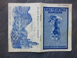 Eau Végétale Marquis, Recolore Cheveux Blancs, Brochure 16 Pagesvers 1900  ;  Ref 518 VP 28 - Advertising