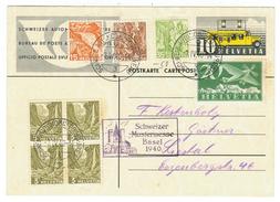 Suisse // Schweiz // Switzerland //  Entier Postal Du Bureau De Poste Automobile Mustermesse Basel 1940 - Ganzsachen