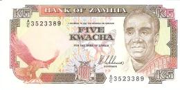 ZAMBIE   5 Kwacha   ND (1989)   Sign.8   P. 30a   UNC - Zambie