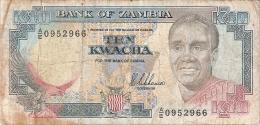 ZAMBIE   10 Kwacha   ND  (1989-91)    Sign.8   P. 31a - Zambie