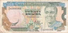 ZAMBIE   20 Kwacha   ND  (1989-91)    Sign.8   P. 32a - Zambie
