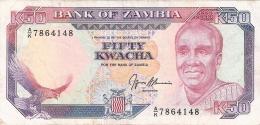 ZAMBIE   50 Kwacha   ND  (1989-91)    Sign.9   P. 33b - Zambie