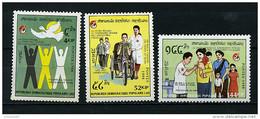 Laos ** N° 887 à 889 - 125e Ann. De La Croix-Rouge Et Du Croissant-Rouge - Laos