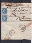 France - Lettre De 1853 - Exp Vers Walcourt En Belgique - Cahets Paris Erquelines - France Par Erquelines - 1853-1860 Napoléon III
