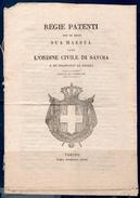 Savoia 1831 Regie Patenti  -- Bilingue Italiano /Francese -- - Documenti Storici
